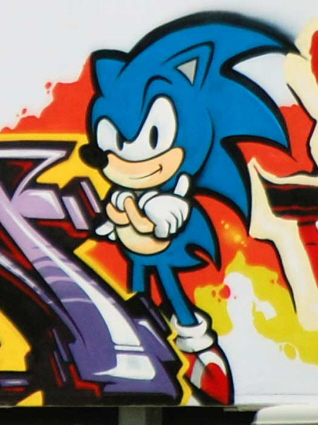 Sonic Nas Ruas Grafites Do Sonic